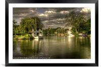 The River Thames at Streatley, Framed Mounted Print