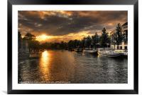 Amsterdam Sunset, Framed Mounted Print