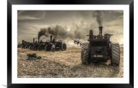 Steaming Giants, Framed Mounted Print