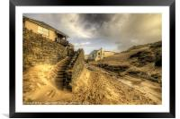 Steps to the beach, Framed Mounted Print