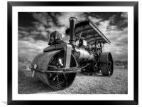 Steam Rolling, Framed Mounted Print