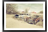 Rusting Classics, Framed Mounted Print