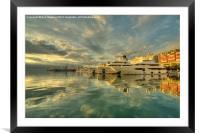 Rijeka Yachts , Framed Mounted Print