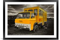 The BR crew bus , Framed Mounted Print