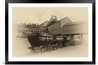 Cauldron Wagons , Framed Mounted Print