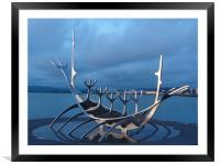 Viking Ship, Framed Mounted Print