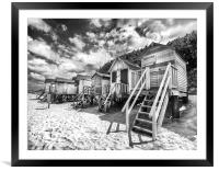 Wells-Next-The-Sea Beach Huts, Framed Mounted Print