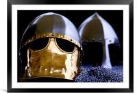 Saxon Helmets, Framed Mounted Print