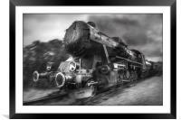 Steam Train, Framed Mounted Print