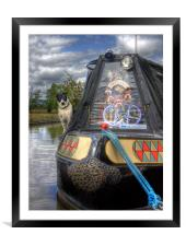A Dogs Life Afloat, Framed Mounted Print
