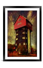 House in the Clouds, Framed Mounted Print