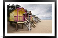 Colourful Beach Huts in Wells, Framed Mounted Print