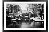 Snowy Pulls Ferry Norwich, Framed Mounted Print