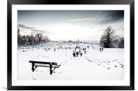 A Perfect Winter Scene, Framed Mounted Print