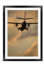 sunset landing, Framed Mounted Print