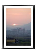 Sunset over Ljubljana, Slovenia, Framed Mounted Print