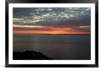 Red dusk, Framed Mounted Print