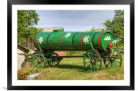 Old farm machinery in Nova Vas, Slovenia, Framed Mounted Print
