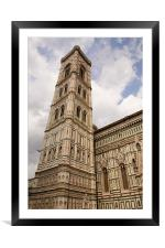 The neo-gothic facade of the Duomo in Florence, Framed Mounted Print
