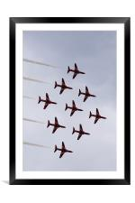 Red arrows in diamond nine formation, Framed Mounted Print