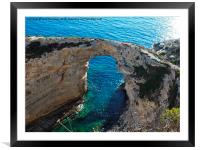 Tripitos Arch Paxos Greece, Framed Mounted Print