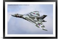 Avro Vulcan bomber XH558 at Abingdon Air Show, Framed Mounted Print