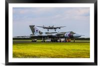 Vulcan XH558 and BBMF Lancaster, Framed Mounted Print
