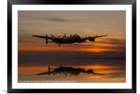 Lancaster Bomber Landfall, Framed Mounted Print