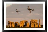 Hurricanes over Stonehenge, Framed Mounted Print