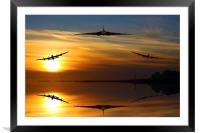 Vulcan and Lancasters sunset, Framed Mounted Print