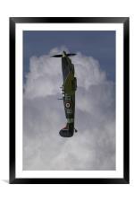 Spitfire MH434 vertical, Framed Mounted Print