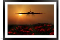 Vulcan sunset, Framed Mounted Print