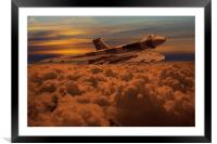 Vulcan Bomber XH558 sunset, Framed Mounted Print