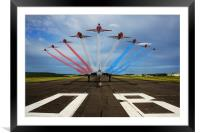 Red Arrows Vulcan XH558, Framed Mounted Print