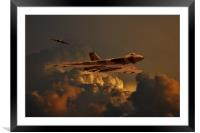 Vulcan bombers Into the storm, Framed Mounted Print