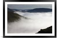 Fog in the Welsh valleys, Framed Mounted Print