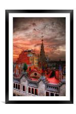 Gaudis Sunrise, Framed Mounted Print