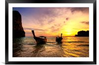 Railay Sunset, Framed Mounted Print