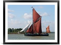 Thames Barge Cabby, Framed Mounted Print