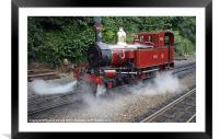 Loch under steam, Framed Mounted Print