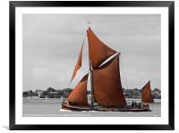 Thames Barge Repertor, Framed Mounted Print
