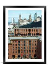 Albert Dock Liverpool, Framed Mounted Print
