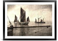 Maldon Barge Match 2010 vintage effect, Framed Mounted Print
