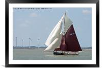 Oyster Smack CK21 Maria, Framed Mounted Print