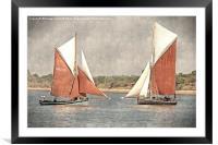 Close encounter - vintage effect, Framed Mounted Print