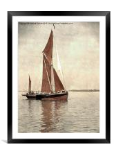 Thames barge Repertor , Framed Mounted Print