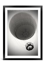 Tethered balloon , Framed Mounted Print