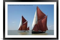Thames barges Edith May and Niagara, Framed Mounted Print
