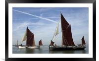 Maldon Barge Match 2010, Framed Mounted Print