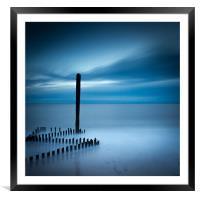 Caistor Beach Blues, Framed Mounted Print